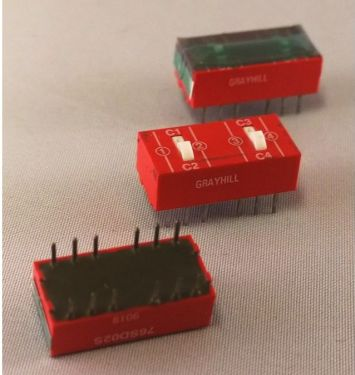 76SD02S Dip switch 2x2 skiftekontakter (DIP14)