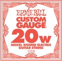 Musikinstrumenter, Ernie Ball EB-1120, Single .020 Nickel Wound string for Eletric gui