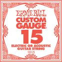 Musikinstrumenter, Ernie Ball EB-1015, Single .015 Plain Steel string for Eletric or A