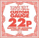Musikinstrumenter, Ernie Ball EB-1022, Single .022 Plain Steel string for Eletric or A