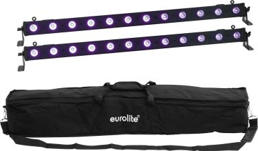 Eurolite Set 2x LED BAR-12 UV Bar + Soft-Bag