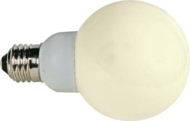 "<span class=""c90"">HQ Power -</span> G60 LED pære 230VAC / 1W, E27 sok., Varm HVID"