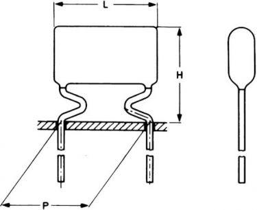 MKT kondensator 220nF (0,22uF) 100V 10mm (10%)