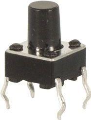 TACT mikrotrykkontakt 6x6mm, H=9,5mm