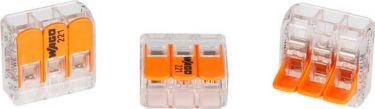 "<span class=""c10"">Wago -</span> Kabel samlekonnektor 3 x 0,2-4mm², til alle ledningstyper"