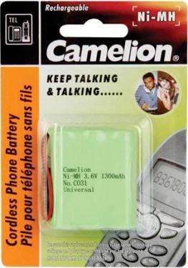 "<span class=""c10"">Camelion -</span> Camelion NiMH t. trådløs tlf. 3,6V-1300mAh (universalstik)"