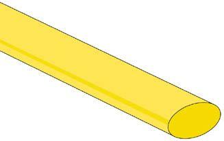 "<span class=""c9"">Velleman -</span> Krympeflex 2:1 9,5mm GUL (1,2m)"