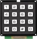 Tastatur og kodelåse, Tastatur m. 16 taster Matrix-udgang
