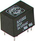 REED relæer / DIP relæer, DIP relæ 24VDC / 3A, 1 x omskifter (N4100S)