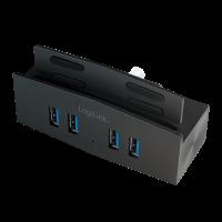 "<span class=""c9"">LogiLink -</span> USB 3.0 hub til skærm/bord 4xUSB 3.0, aluminium"