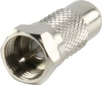 Valueline Coax Adapter XLR F-Male - RCA Female Silver, FC-034