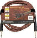 Musikinstrumenter, Dimavery Instrument-cable, 3m, br/rd