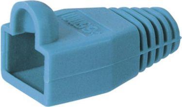 Blød hætte for RJ45 modularstik Blå (1 stk.)