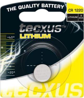"<span class=""c9"">Tecxus -</span> Tecxus CR1220 Lithium knapcelle, 3V / 35mAh (1 stk.)"