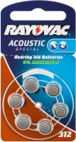 "Batterier og tilbehør, <span class=""c10"">RAYOVAC -</span> PR41 Zinc-air høreapparatbatteri 1,4V / 160mAh (6 stk.)"