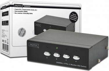 Digitus VGA video switch 4 ind 1 ud