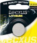 """Batterier og tilbehør, <span class=""""c10"""">Tecxus -</span> Tecxus CR2016 Lithium knapcelle, 3V / 75mAh (1 stk.)"""