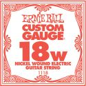 Musikinstrumenter, Ernie Ball EB-1118, Single .018 Nickel Wound string for Eletric gui