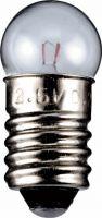 """Pærer og tilbehør, <span class=""""c10"""">Bailey lights -</span> Dværglampe 24V / 210mA / 5W Globe, E10 sokkel"""