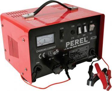 "<span class=""c9"">PEREL -</span> Bilbatterilader til 12/24V blybatterier 20A m. boost funk."