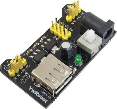 Breadboard strømforsyningsmodul 3,3V + 5V ud