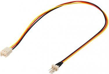 """<span class=""""c9"""">GOOBAY -</span> Intern PC CPU køler kabel 3P han til 3P hun (30cm)"""