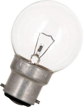 """<span class=""""c9"""">Bailey lights -</span> G45 Lanterne Pære 12V / 40W, Klar, B22d sokkel"""