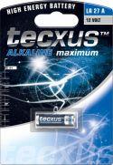 "Batterier og tilbehør, <span class=""c10"">Tecxus -</span> Tecxus Alkaline LR27/A27 batteri 12V (1 stk.)"
