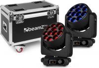 MHL1240 LED Moving Head Zoom 12x40W 2 pieces in Flightcase