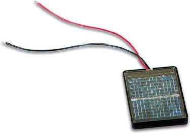 Indstøbt solcelle 0,5V / 400mA, polykrystalinsk