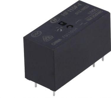 Miniature relæ 12VDC / 16A, 1 x slutte (SPST-NO)