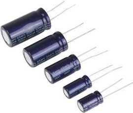 10uF / 450V Lodret elektrolyt (105°C)
