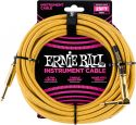 Kabler, Ernie Ball EB-6070 Instrument Cable, Superior braided cable, gold