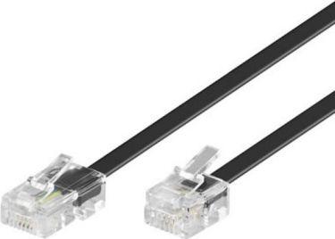 ISDN telefonledning RJ11(6P4C) til RJ45(8P4C), Sort (6m)