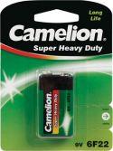 """Batterier og tilbehør, <span class=""""c10"""">Camelion -</span> Brunsten E-blok batteri 9V / 400mAh (1 stk. blister)"""