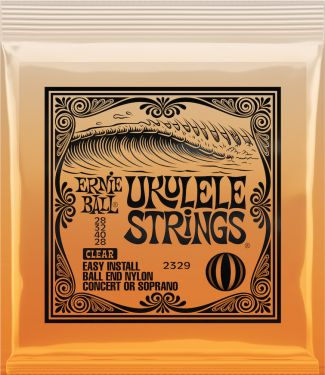 Ernie Ball EB-2329, Ukulelestrings with ball end, clear
