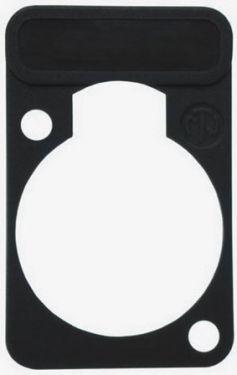"<span class=""c9"">NEUTRIK -</span> Neutrik Skriveplade til D-konnektorer, SORT"