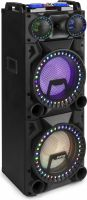 "Ghettoblaster / Soundbox, VS212 Active Speaker 2x 12"" Bluetooth, LED"