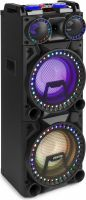 "Ghettoblaster / Soundbox, VS210 Active Speaker 2x 10"" Bluetooth, LED"