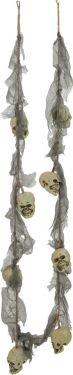 Halloween Halskæde med plastik kranier