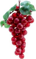 Udsmykning & Dekorationer, Europalms Grapes with leaves, artificial, red