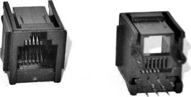 RJ12 modular telefonfatning (6P6C) til print