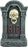 Halloween, Europalms Halloween tombstone with skull, 56cm