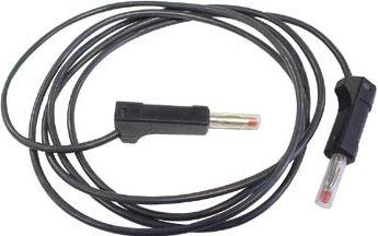 "<span class=""c10"">Velleman -</span> Testledning 2 x 4mm bananstik IEC1010 stabel, Sort (50cm)"