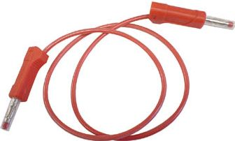 "<span class=""c9"">Velleman -</span> Testledning 2 x 4mm bananstik IEC1010 stabel, Rød (50cm)"