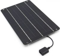 Solcelle 6V / 1A (6W), semi-fleksibel, inkl. 5V regulator