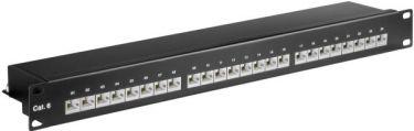 "<span class=""c10"">GOOBAY -</span> 19"" Patch panel 1U, 24 x RJ45 CAT6 skærmet, Sort"