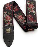 Straps, Ernie Ball EB-4142 Red Rose Jaquard Strap