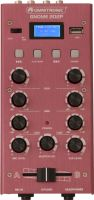DJ Mixers, Omnitronic GNOME-202P Mini Mixer red