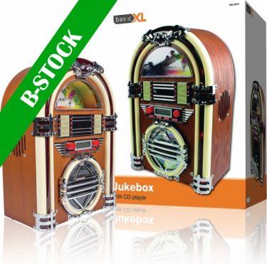 "basicXL BXL-JB10 Bord Radio Jukebox FM / AM CD Brun ""B-STOCK"""